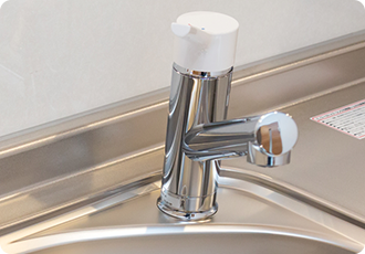 蛇口 水栓の水漏れ修理